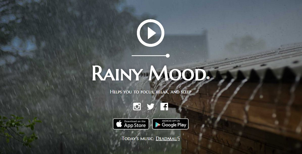 Rainy Mood - website xả stress với tiếng mưa