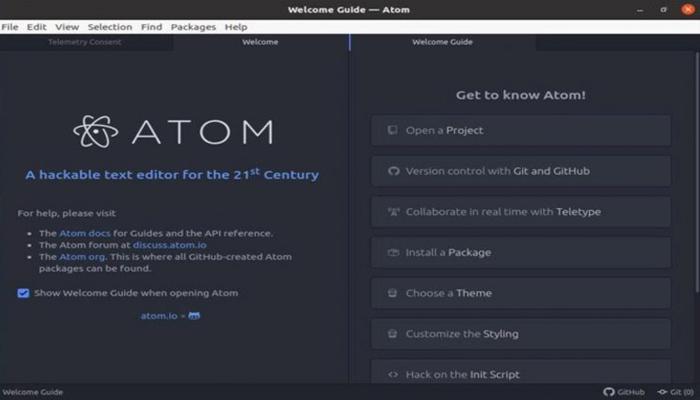 Phần mềm lập trình web - Atom