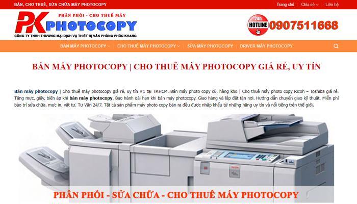 Photocopy.net.vn - Website chuyên bán máy photocopy cũ