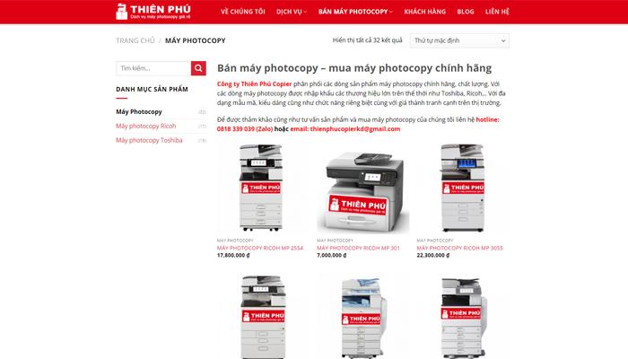 Tiêu chí lựa chọn website bán máy photocopy uy tín